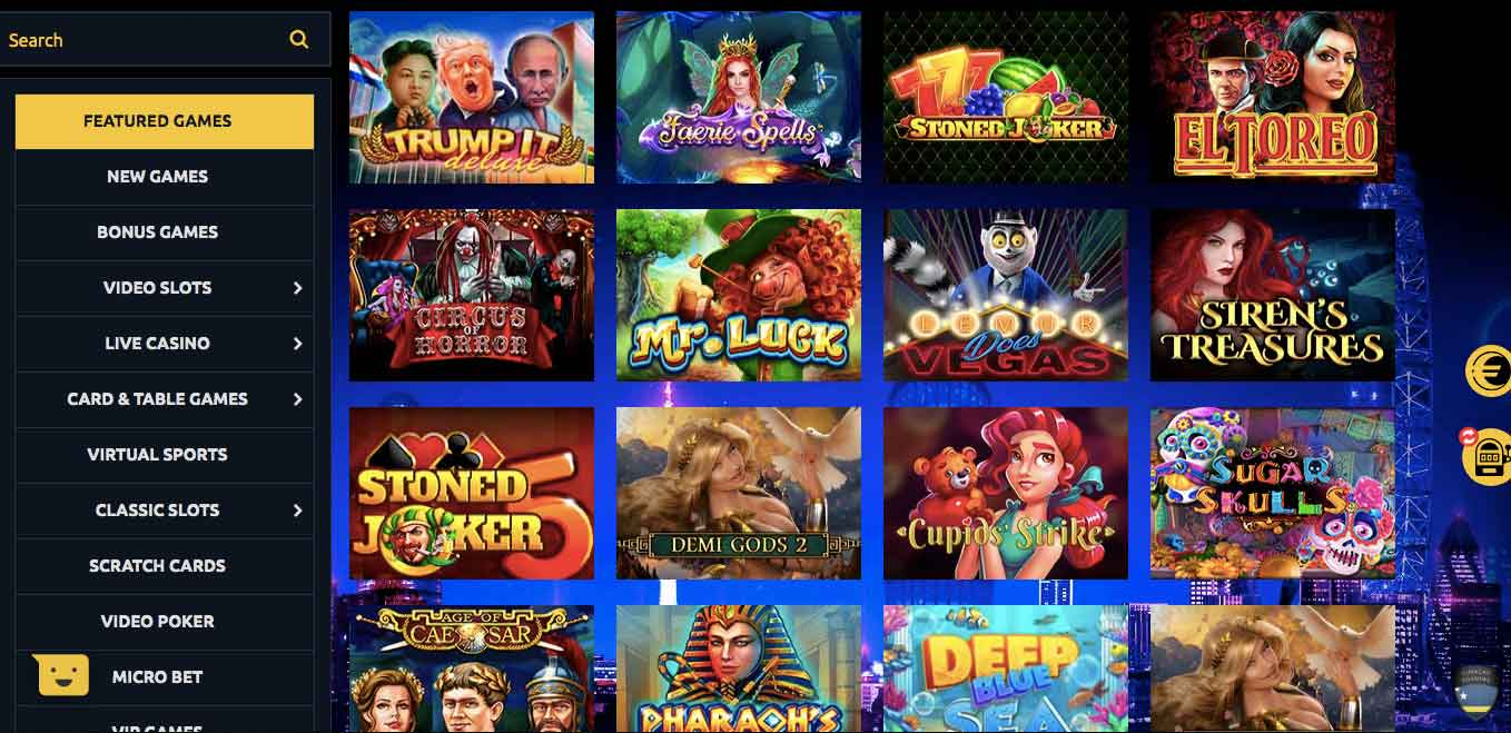 euromoon slots library