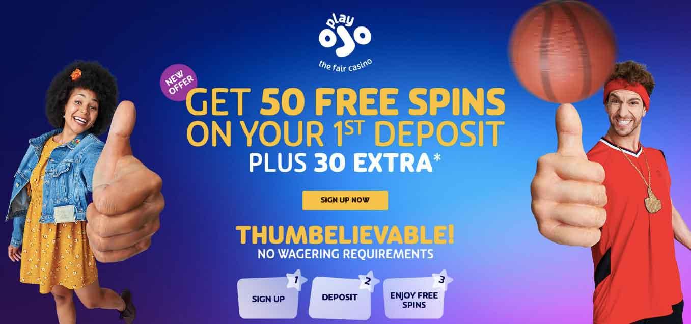 playojo 80 free spins no wager