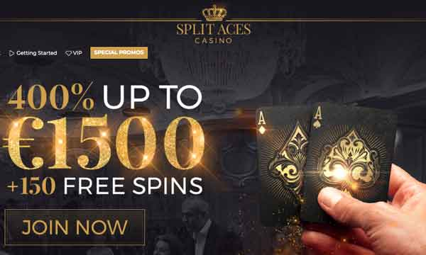split aces casino bonus