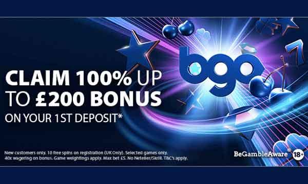 bgo 100 casino bonus