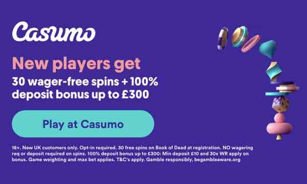 casumo free spins no deposit no wagering
