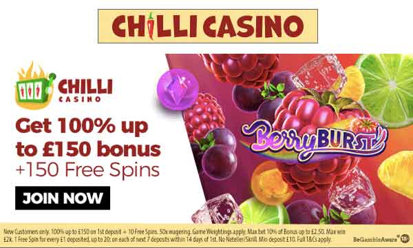 chilli casino no wagering bonus
