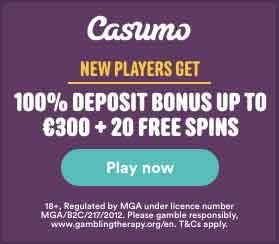 casumo 100 deposit bonus