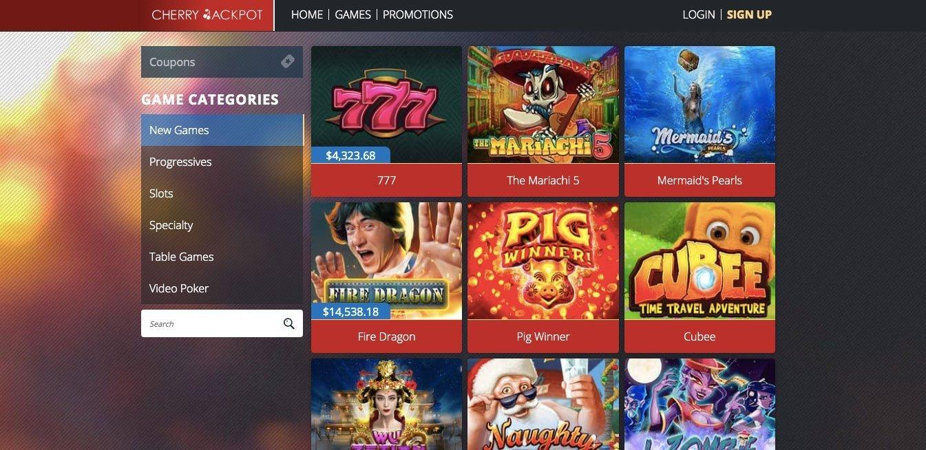 cherry casino slots games