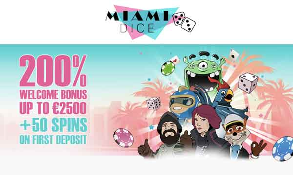 miami dice 200 casino bonus