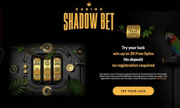 shadowbet no deposit no wager free spins