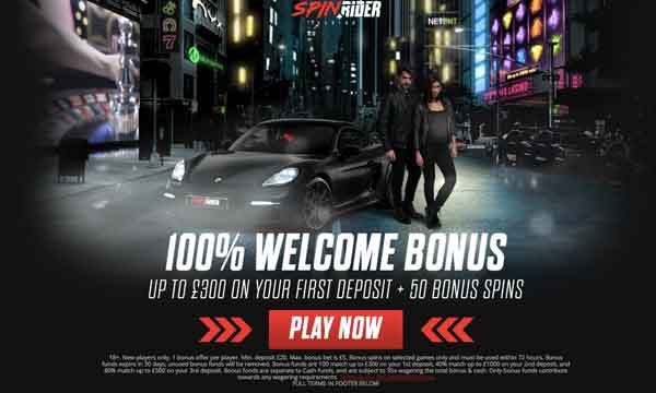 spinrider 100 casino bonus