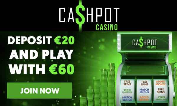cashpot casino 300 percent bonus