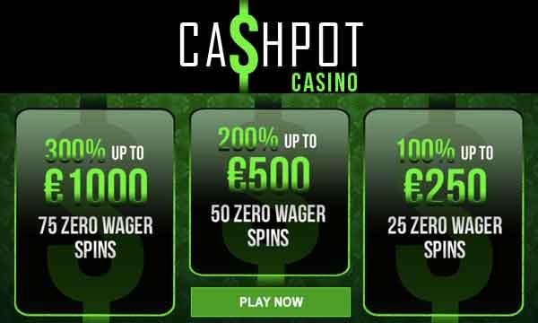 cashpot casino no wagering bonus