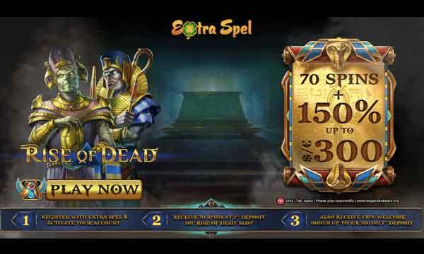 extra spel casino 150 bonus