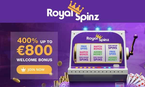 royalspinz 400% casino bonus