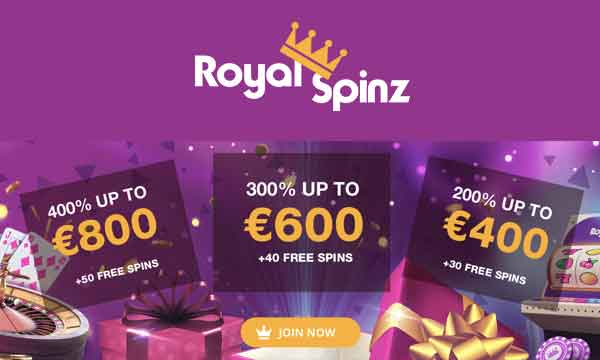 royalspinz free spins bonus