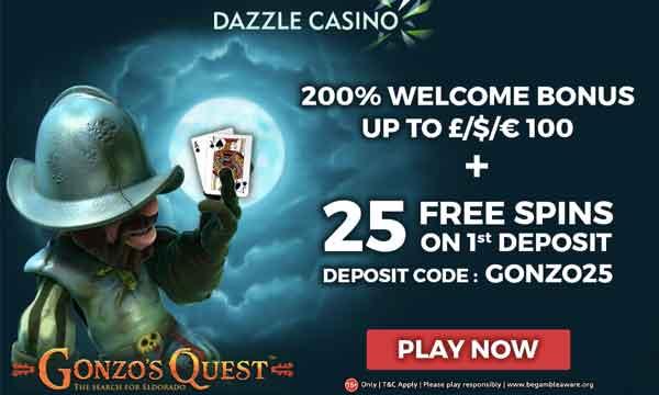 dazzle casino 200% bonus