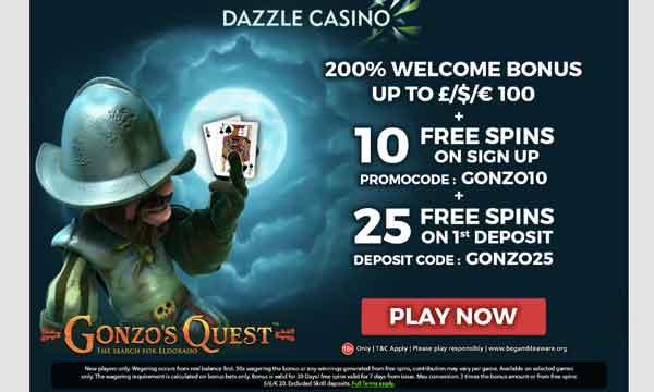 dazzle casino no deposit free spins