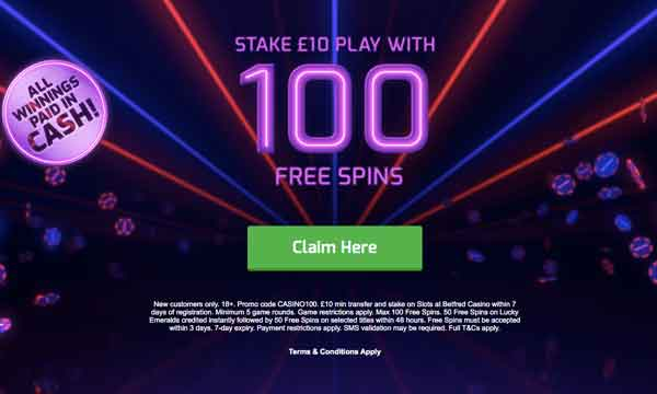 Betfred Casino Free Spins Exclusive Claim 70 Spins With No Wagering