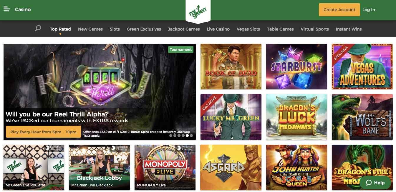 Mr Green Casino Pl