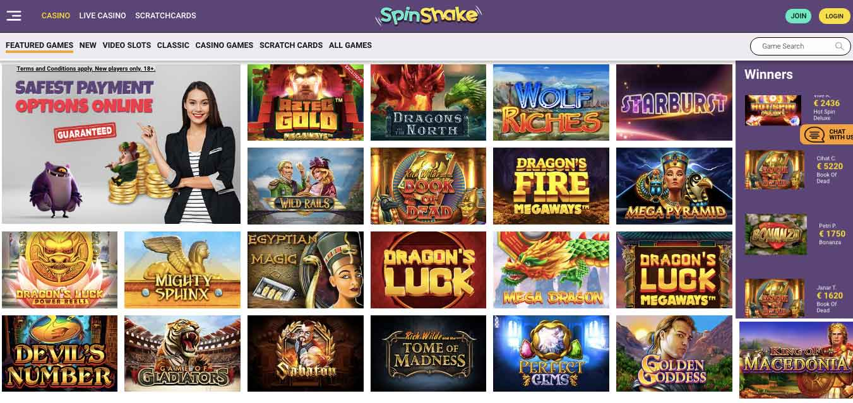 spinshake casino slots games