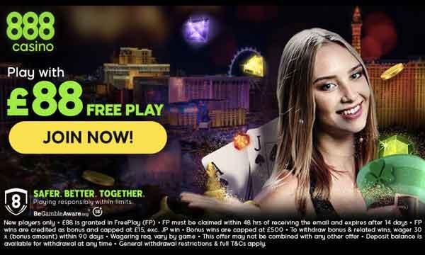 888 Casino Bonus 88