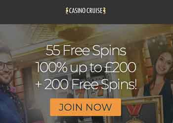 Casino Cruise No Deposit Bonus Claim 55 Free Spins On Registration